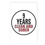 9 Years Clean & Sober Postcards (Package of 8)