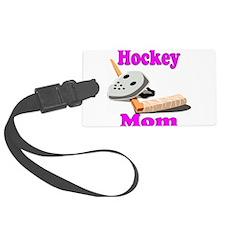hockey mom pink black.png Luggage Tag