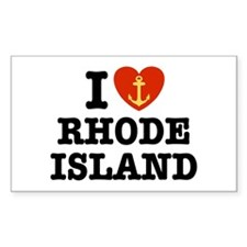 I Love Rhode Island Rectangle Decal