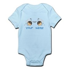 Personalized Twin Boy Butterfies Onesie