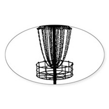Decal - Disc Golf Catcher Black Decal