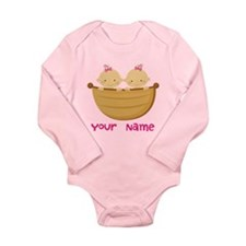 Personalized Twin Girls Baby Outfits