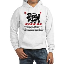 Cute Chinese zodiac sign ox Hoodie