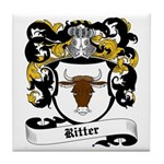 Ritter Coat of Arms Tile Coaster