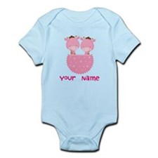 Personalized Girl Giraffe Twins Body Suit