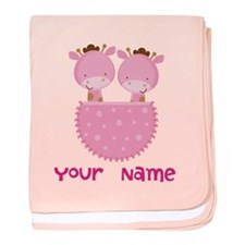 Cute Twin girls baby blanket