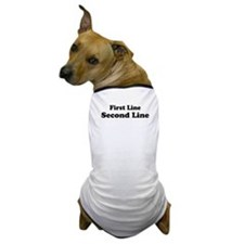 2lineTextPersonalization Dog T-Shirt