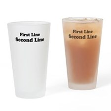 2lineTextPersonalization Drinking Glass