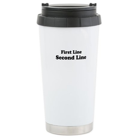 2lineTextPersonalization Ceramic Travel Mug