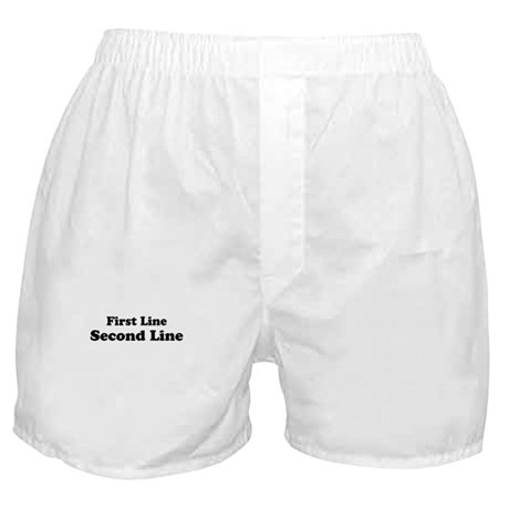 2lineTextPersonalization Boxer Shorts