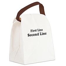 2lineTextPersonalization Canvas Lunch Bag
