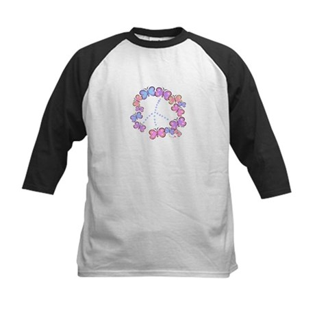 Butterfly Peace Kids Baseball Jersey
