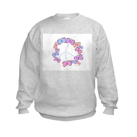 Butterfly Peace Kids Sweatshirt