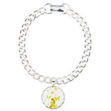Yellow Awareness Ribbon Bracelet