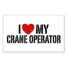 I Love My Crane Operator Bumper Stickers