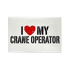 I Love My Crane Operator Rectangle Magnet