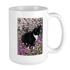 Freckles Tux Cat Flowers II Mug