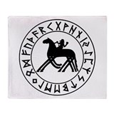 Sleipnir tshirt 10 by 10.png Throw Blanket