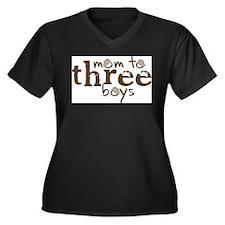 momtothreeboys1.jpg Plus Size T-Shirt