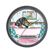 Dapple Dachshund Wall Clock