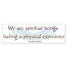 """Spiritual Beings"" Bumper Bumper Sticker"