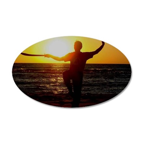 Sunset Sword 35x21 Oval Wall Decal