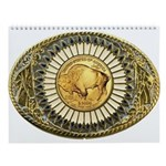Buffalo gold oval 1 Wall Calendar