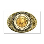 Buffalo gold oval 1 Car Magnet 20 x 12