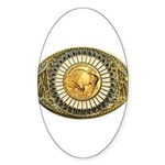 Buffalo gold oval 1 Sticker (Oval 10 pk)