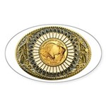 Buffalo gold oval 1 Sticker (Oval)