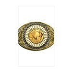 Buffalo gold oval 1 Sticker (Rectangle 50 pk)