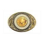 Buffalo gold oval 1 35x21 Wall Decal