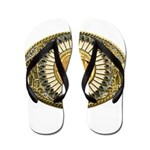 Buffalo gold oval 1 Flip Flops