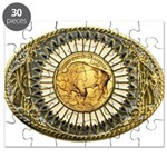 Buffalo gold oval 1 Puzzle