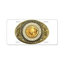 Buffalo gold oval 1 Aluminum License Plate