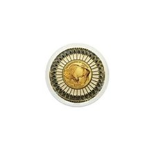Buffalo gold oval 1 Mini Button