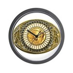 Buffalo gold oval 1 Wall Clock