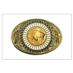 Buffalo gold oval 1 Large Poster