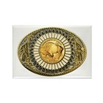 Buffalo gold oval 1 Rectangle Magnet