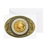 Buffalo gold oval 1 Greeting Card
