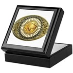 Buffalo gold oval 1 Keepsake Box
