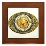 Buffalo gold oval 1 Framed Tile