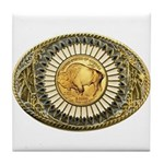 Buffalo gold oval 1 Tile Coaster
