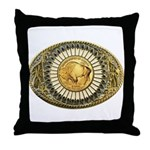 Buffalo gold oval 1 Throw Pillow