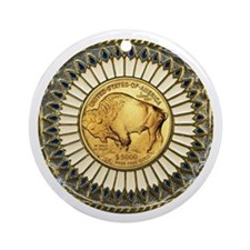 Buffalo gold oval 1 Ornament (Round)