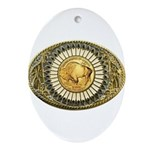 Buffalo gold oval 1 Ornament (Oval)