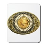 Buffalo gold oval 1 Mousepad