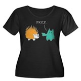 Prick Women's Plus Size Scoop Neck Dark T-Shirt