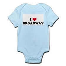 I HEART BROADWAY  Infant Creeper