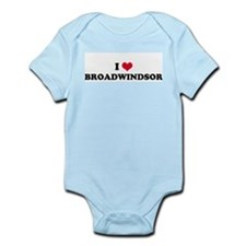 I HEART BROADWINDSOR  Infant Creeper